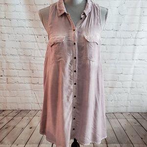 Silence & Noise lavender tunic. Sz Medium